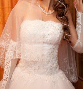 Свадебное платье, очень нежное и красивое