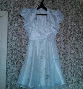 Платье + болеро для девочки 122р-р