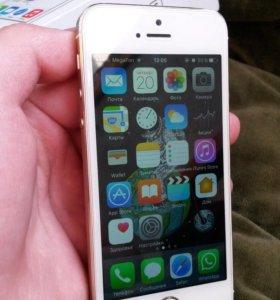 (oбмeн) iPhone 5s 16gd gold