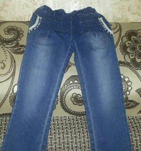 Детские джинсы с бусинами
