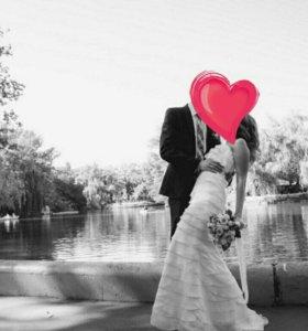 Шикарное свадебное/выпускное платье