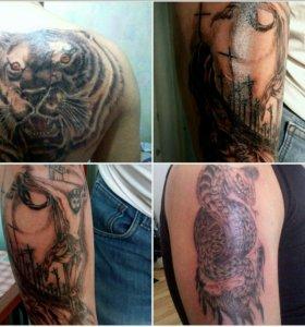 Татуировки любой сложности. Стерильно и безопасно.
