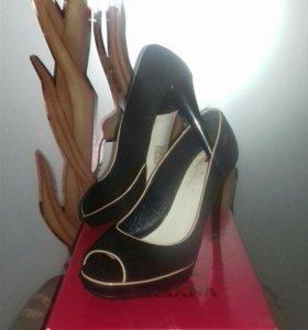 Туфли.,натуральная кожа и замша.