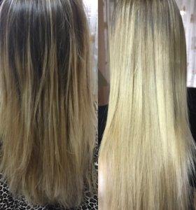 Кератиновое выпрямление волос,ботокс