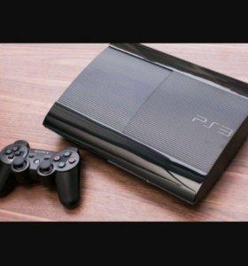 Sony playstation 3 super slim + игры и уши в подар