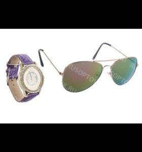 Очки и часы женские