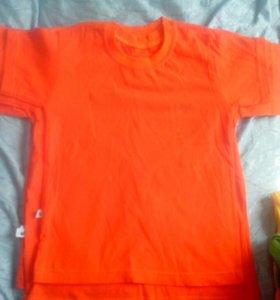 футболки однотонные оранжевые