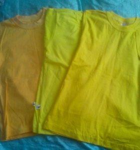 футболки желтые однотонные