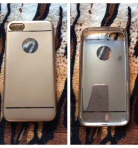 Силиконовый чехол iPhone 7 новый золотой