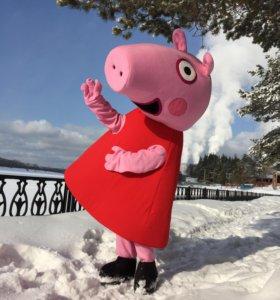 Ростовая кукла-костюм девочки-свинки