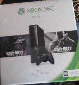 Продам Xbox360 на 500 гигов + 2 игры