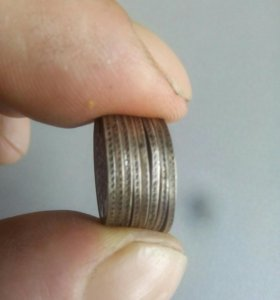 Монеты. 1861г..С.П.Б. Серебро.