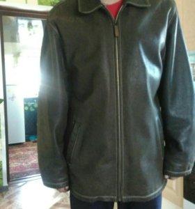 Кожанная куртка мужская размер 52