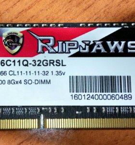 G.skill DDR3-1866MHz sodimm 204pin
