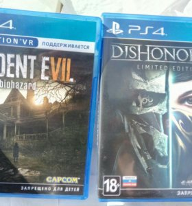 Игры ps4, until dawn, re-biohazard, dishonored 2