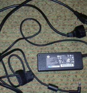 Оригинальное зарядное устройство для ноутбука. hp.