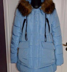 Новая куртка голубая весна осень