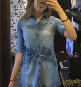 Платье джинсовое, S-М