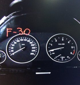 Щиток приборов на BMW f30 2.0D