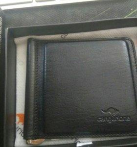 Держатель для банкнот кожаный новый