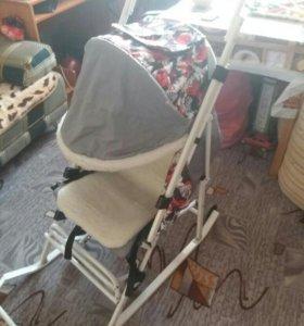 Санки-коляска на колесиках