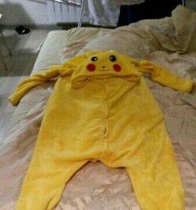 Кигуруми ПИКАЧУ, пижама пикачу