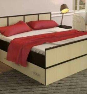 Кровать с ящиками НОВАЯ!
