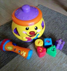 Развивающая игрушка горшочек Fisher price