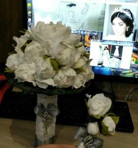 Свадебные букеты из фоамирана