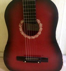 Гитара акустика с чехлом