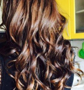 Наращивание волос на капсулы