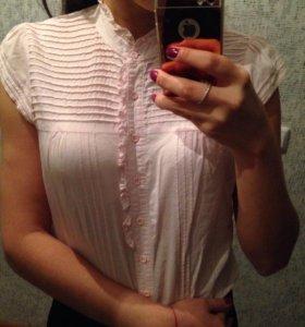 Блузка нежно -розовая