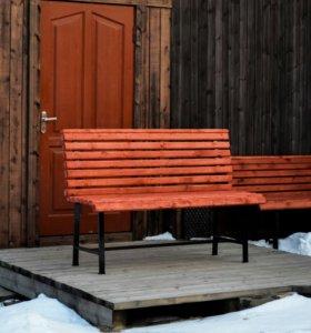 Скамейка/лавочка для двора и дачи