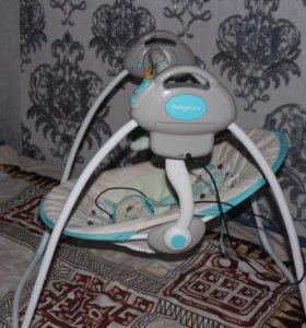 Электрокачели Baby Care Riva с адаптером (торг уме