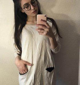 Длинный свитер с карманами H&M🐰