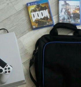 PlayStation 4 + 3 игры