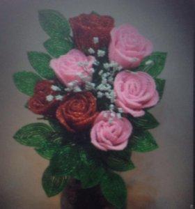 Розы(ручной работы)