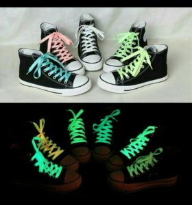Светящиеся шнурки. Мужские и женские.