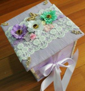 Коробка - шкатулочка ручной работы