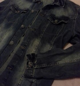 Мужская джинс.рубашка М-L