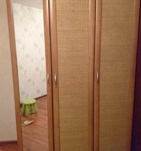 Шкафы Лазурит с ротангом