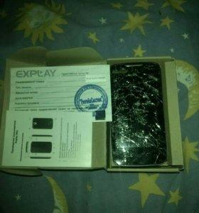 Телефон на запчасти explay Alto (батарея на месте)