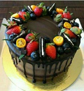 Вкусные тортики с ягодами/пряниками в декоре