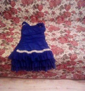 Синие платье