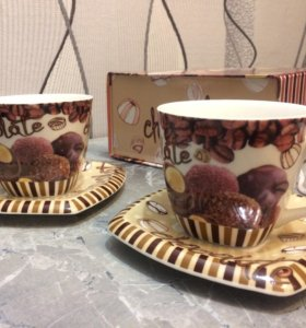 """🆕 Новый чайный набор """"Шоколад"""" 4 предмета ☕️☕️"""