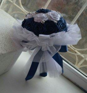 Букет невесты (букет-дублер)из атласных лент