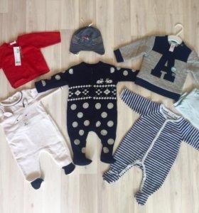 Одежда на мальчика 0-3 месяца