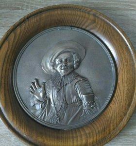 Настенное декоративное панно (тарелка). Олово. WMF