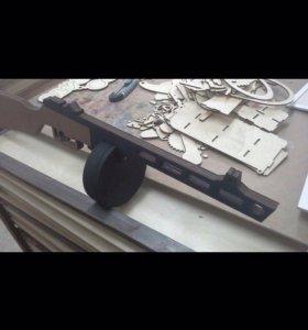 Игрушечный автомат ППШ из фанеры