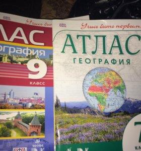 Атласы по географии 7 и 9 класс